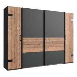 Armoire adulte style industriel 272 cm marron/graphite Nashville