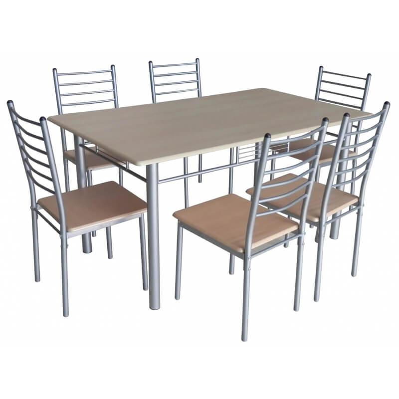 Table de cuisine et 6 chaises sylviane matelpro - Table chaise but ...