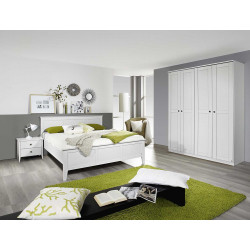 Chambre adulte blanche style campagne Rosemarie