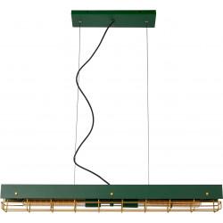 Suspension industrielle 2xE27 vert Sibel
