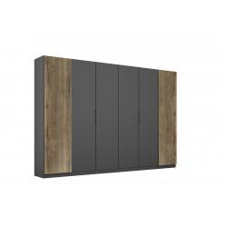 Armoire adulte moderne 271 cm gris foncé/chêne Fabiane I