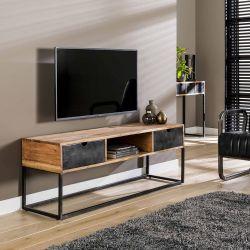 Meuble TV industriel en bois d'acacia et métal Céline