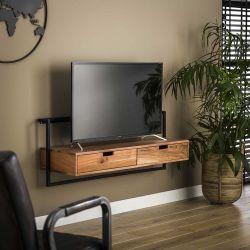 Meuble TV industriel en bois d'acacia et métal Julie