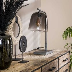 Lampe de table industrielle en verre et métal Arianne
