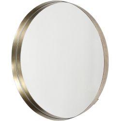 Miroir moderne en métal Ø50 cm Caroline
