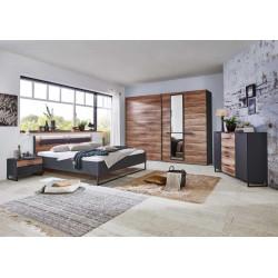 Chambre adulte industrielle marron/graphite Winnie