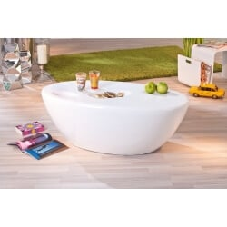 Table basse design coloris blanc brillant Galaxie
