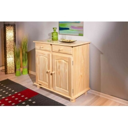 Buffet/Bahut rustique en pin massif naturel Paloma