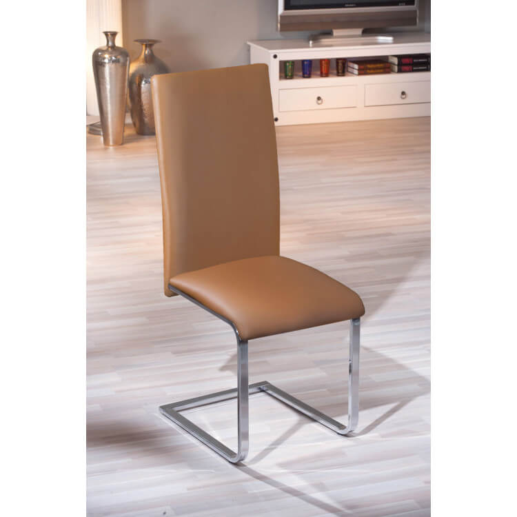 Chaises de salle à manger design coloris brun (lot de 2) Harry