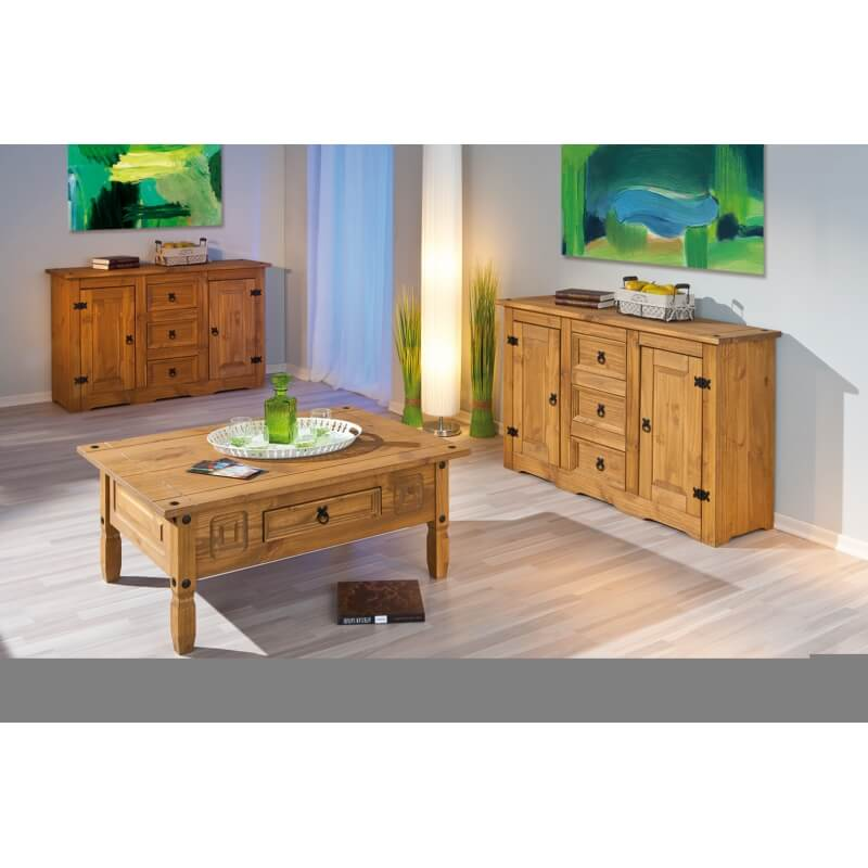 table basse en pin massif mexico. Black Bedroom Furniture Sets. Home Design Ideas