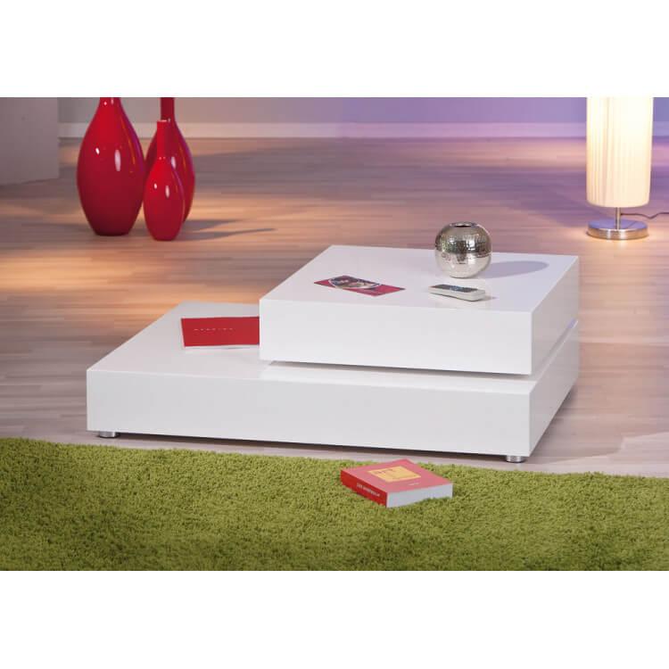 Basse Aldera Design Laquée Blanche Table Modulable Nnvm0w8