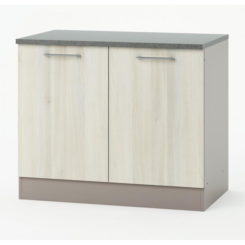 meuble bas de cuisine 100 cm cuisto. Black Bedroom Furniture Sets. Home Design Ideas
