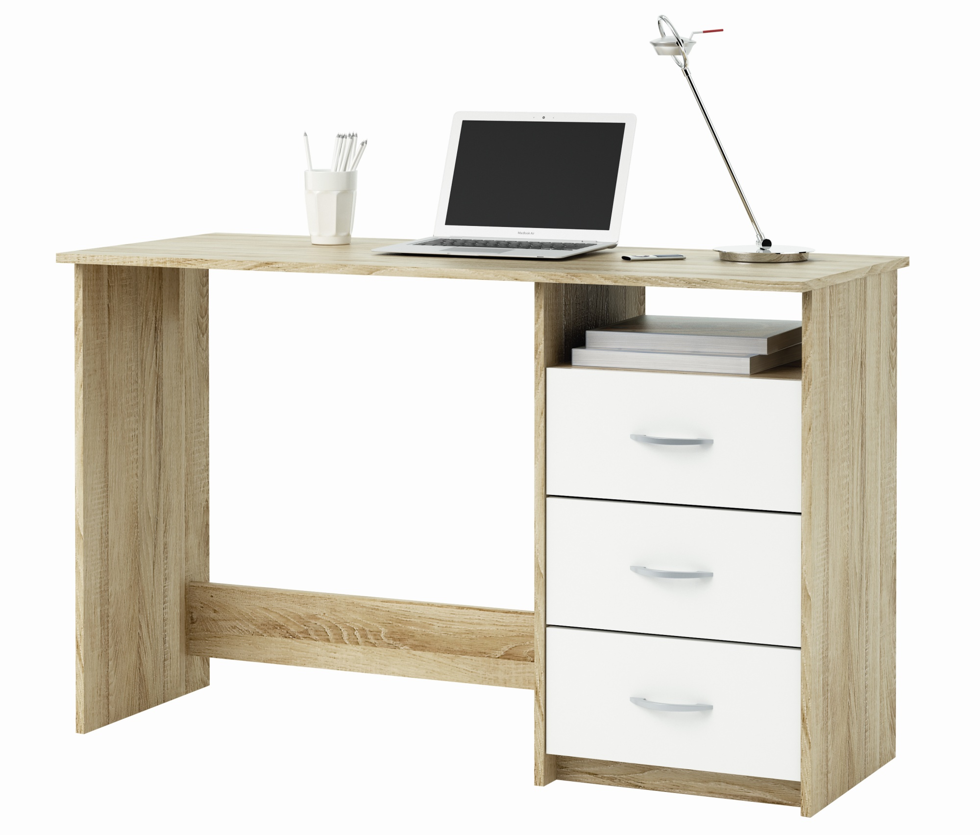 Bureau contemporain 3 tiroirs Alicette