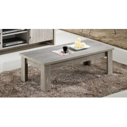 Table basse contemporaine rectangulaire chêne gris Tristan