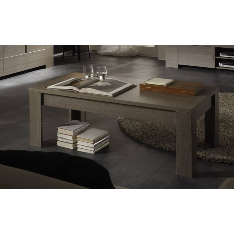 table basse contemporaine ch ne gris jamie matelpro. Black Bedroom Furniture Sets. Home Design Ideas