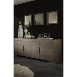 Miroir de salle à manger contemporain chêne gris (lot de 3) Jamie