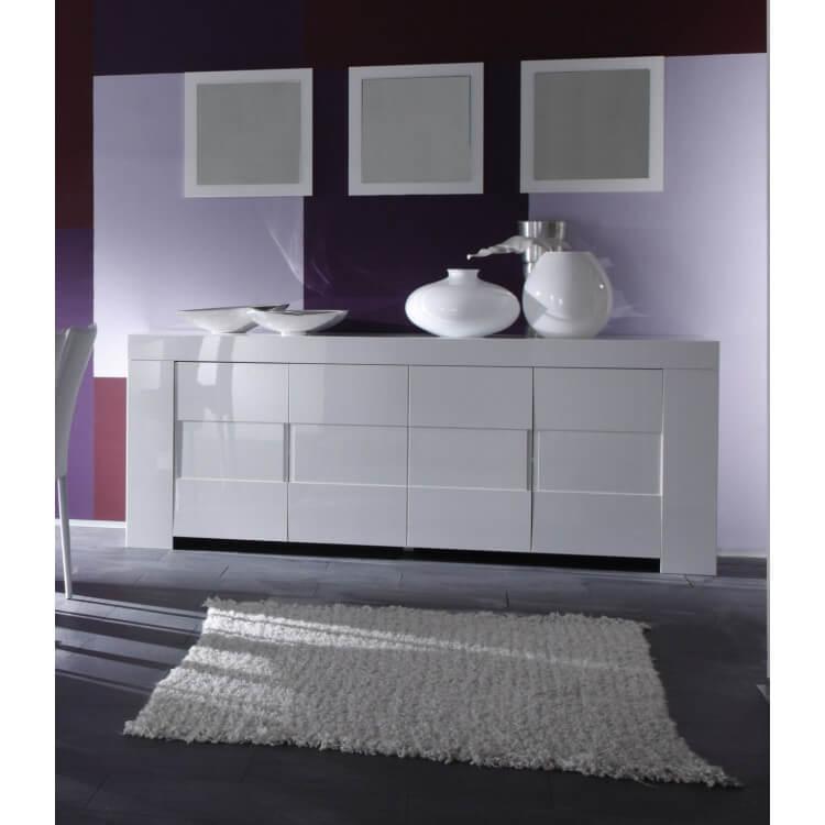 Miroir de salle à manger laqué blanc (lot de 3) Judy