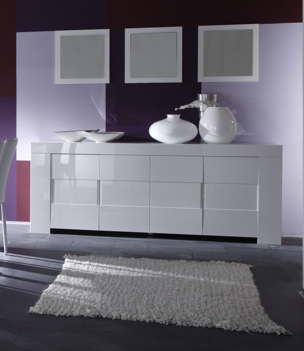 Miroir de salle à manger laqué blanc (lot de 3) Judy | Matelpro
