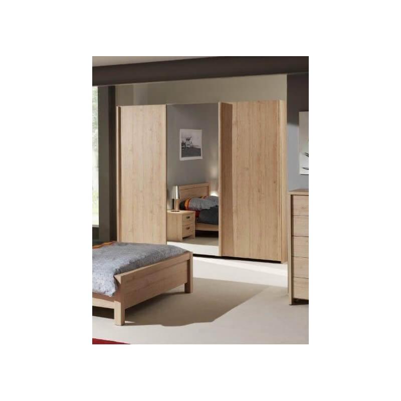 armoire contemporaine 3 portes coulissantes ch ne italien myro. Black Bedroom Furniture Sets. Home Design Ideas