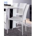 Chaise de salle à manger contemporaine (lot de 4) coloris blanc Maroussia