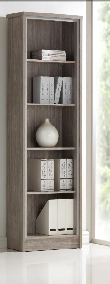 Bibliothèque contemporaine chêne gris Kyliane