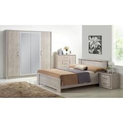 Chambre adulte complète contemporaine chêne gris Kyliane