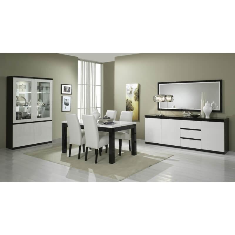 miroir rectangulaire de salle manger design laqu blanc. Black Bedroom Furniture Sets. Home Design Ideas
