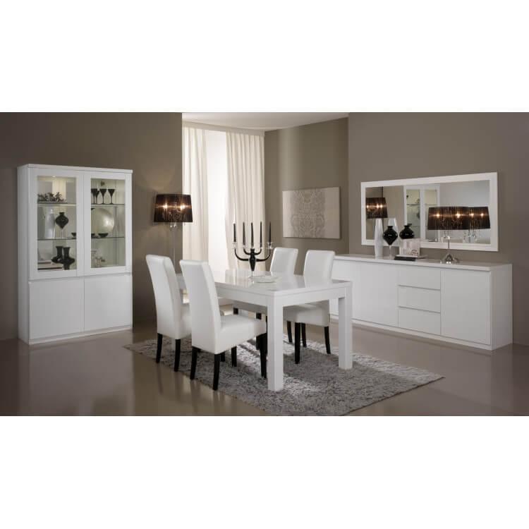 miroir de salle manger rectangulaire design laqu blanc. Black Bedroom Furniture Sets. Home Design Ideas