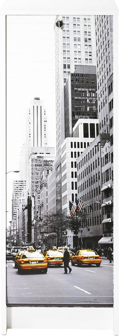 Classeur à rideau design blanc New York
