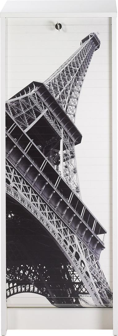 Classeur à rideau design blanc Tour Eiffel
