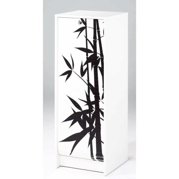 Classeur à rideau design blanc Bambou