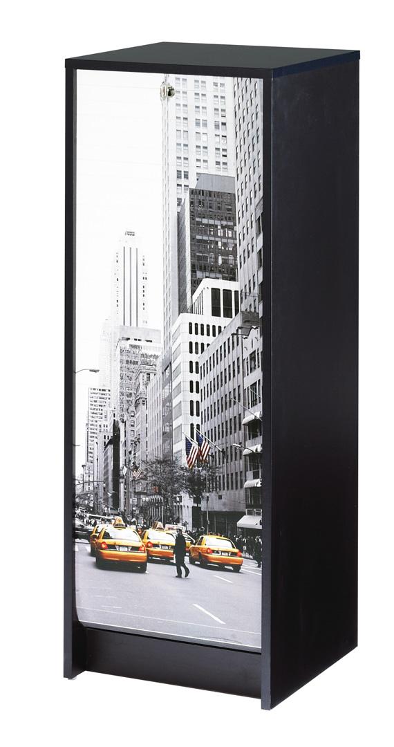 Classeur à rideau design noir New York