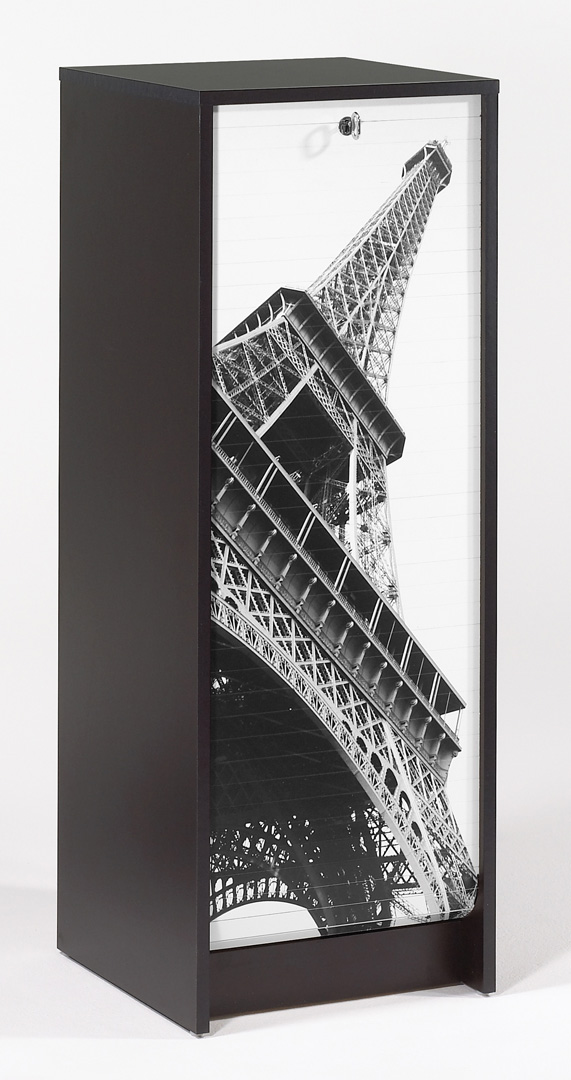 Classeur à rideau design noir Tour Eiffel