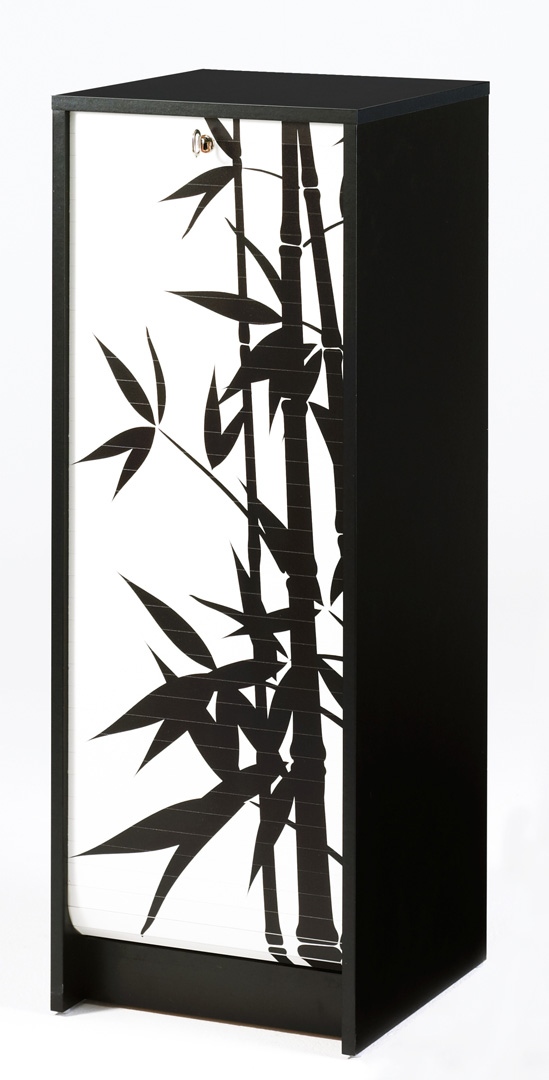 Classeur à rideau design noir Bambou