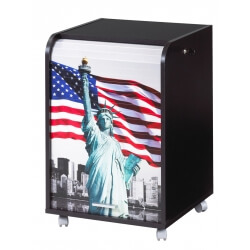 Caisson de bureau à rideau design noir Liberty