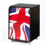 Caisson de bureau à rideau design noir London