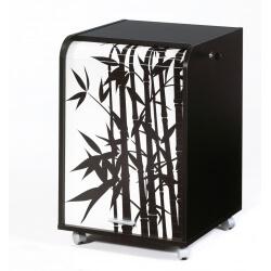 Caisson de bureau à rideau design noir Bambou