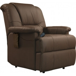 Fauteuil de relaxation 100 % cuir électrique avec repose-pieds intégré CHICO