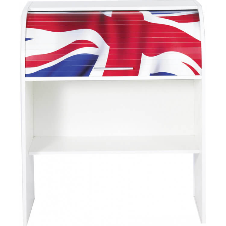 Bureau informatique à rideau design blanc London