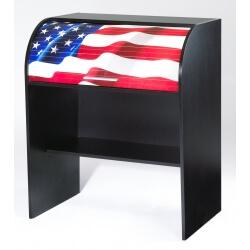 Bureau informatique à rideau design noir States