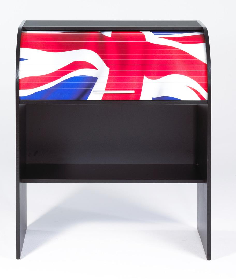 Bureau informatique à rideau design noir London
