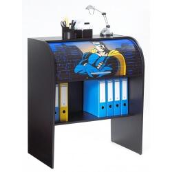 Bureau informatique à rideau design noir Heroes