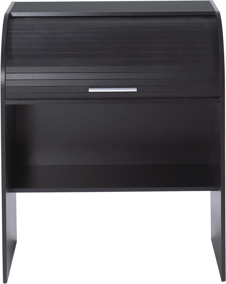 Bureau informatique à rideau coloris noir Musty