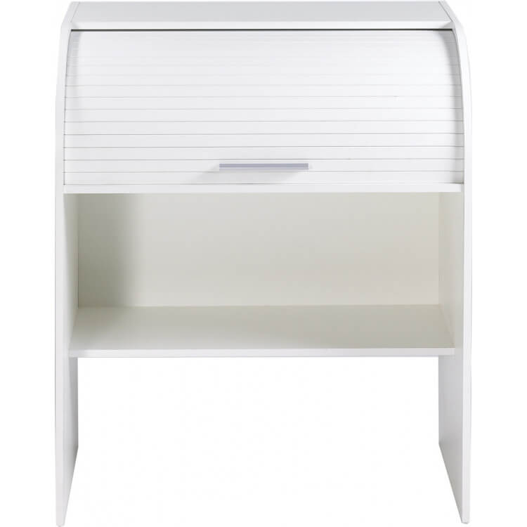 Bureau informatique à rideau coloris blanc Musty