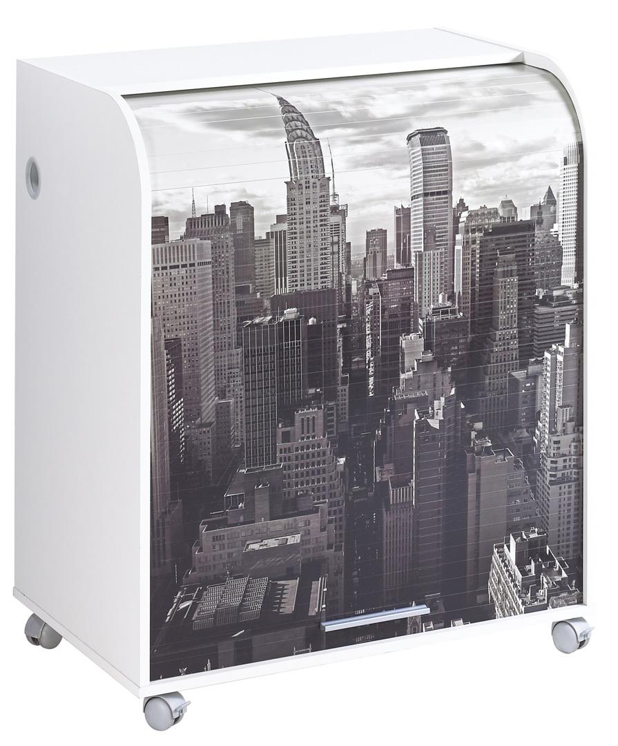 Bureau secrétaire informatique à rideau design blanc New York