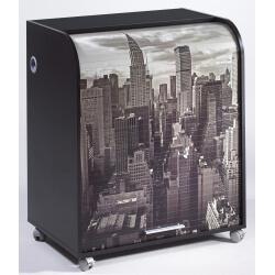 Bureau secrétaire informatique à rideau design noir New York