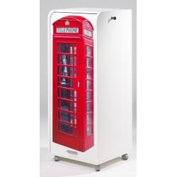 Caisson de bureau mobile à roulettes design blanc London