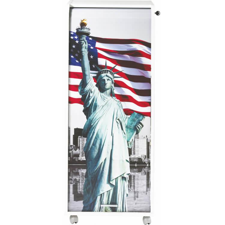 Caisson de bureau mobile à roulettes design blanc Liberty