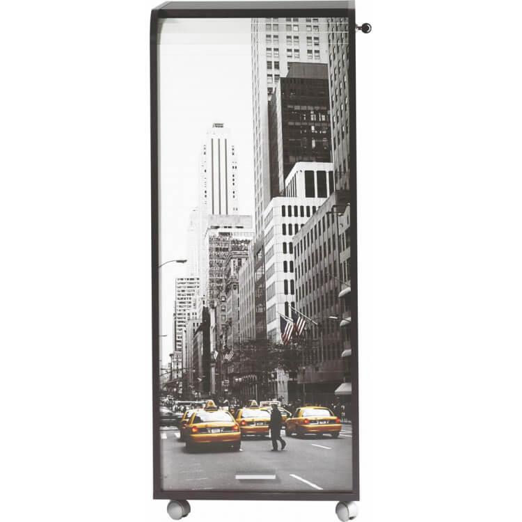 Caisson de bureau mobile à roulettes design noir New York