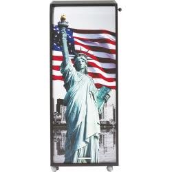 Caisson de bureau mobile à roulettes design noir Liberty